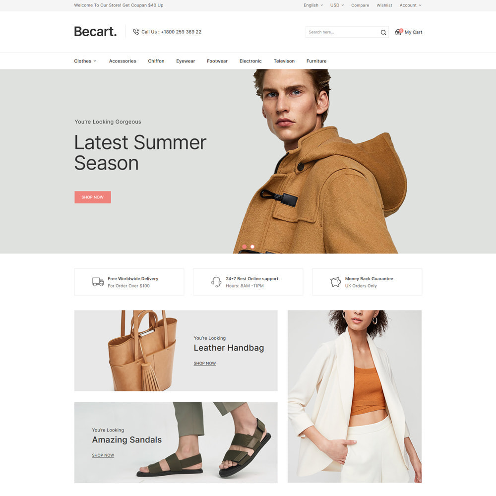 theme - Мода и обувь - Becart Fashion Store - 2