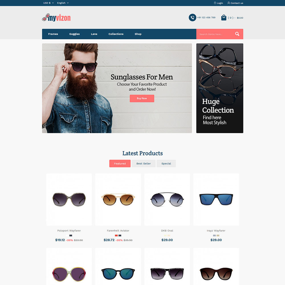 theme - Biżuteria & Akcesoria - Myvizion Eyecare - Sklep z soczewkami okularów - 3