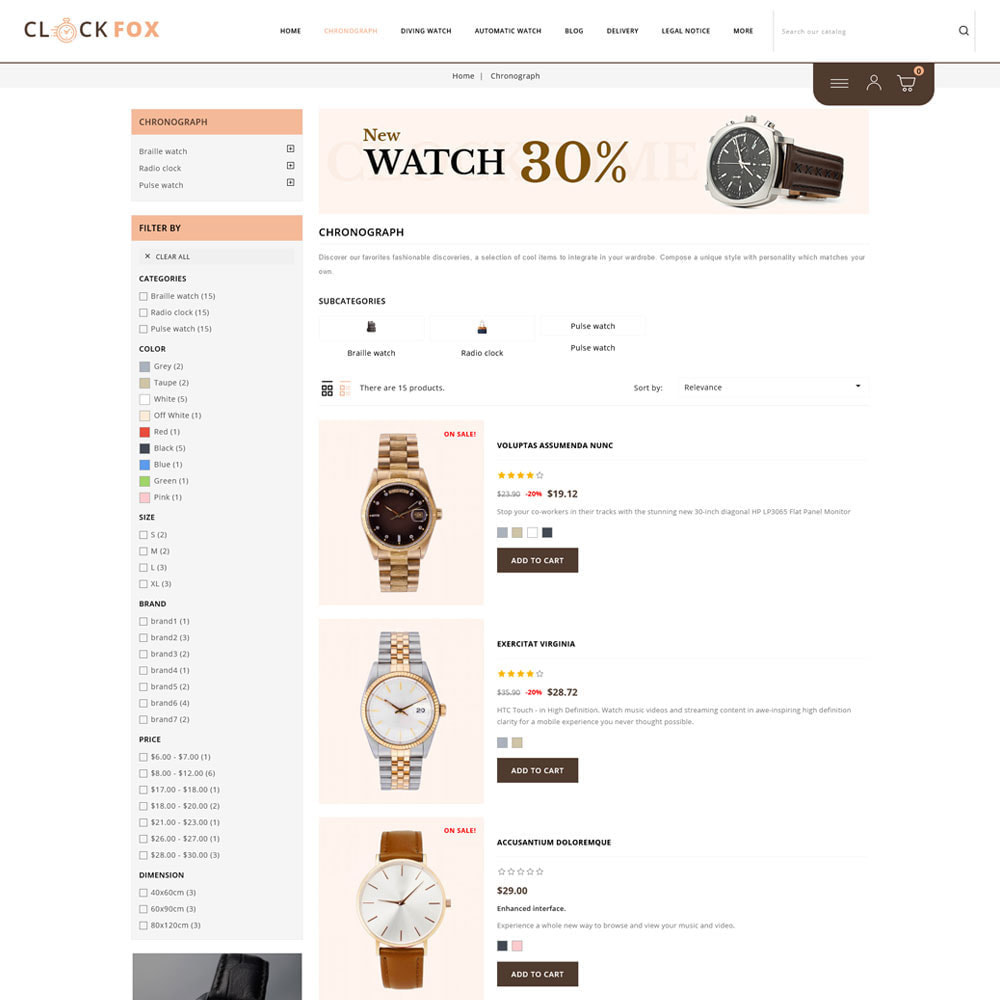 theme - Joalheria & Acessórios - Clockfox - Watch Store - 4