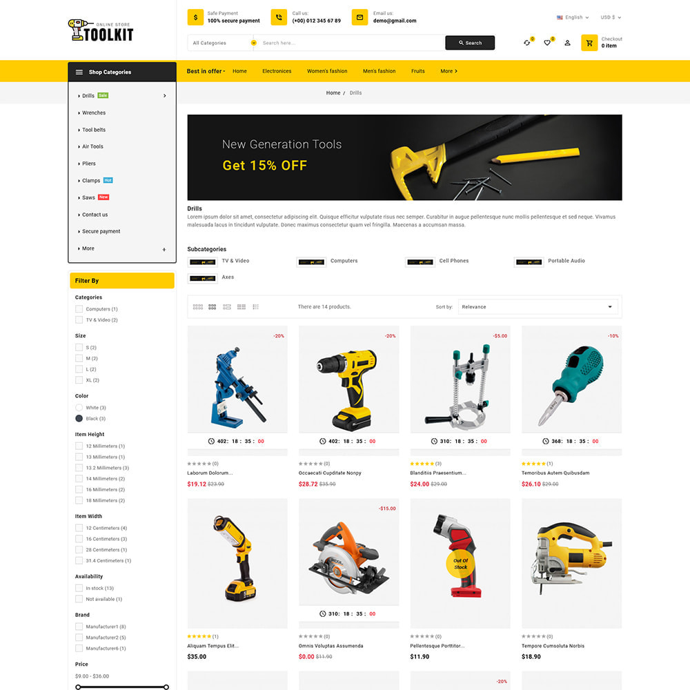 theme - Electronics & Computers - Toolkit - Mega Tools Store - 4