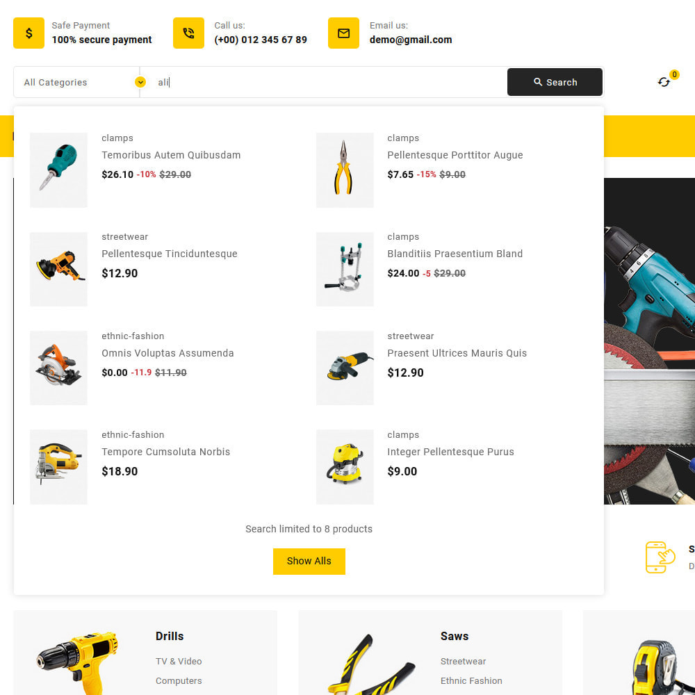 theme - Electronics & Computers - Toolkit - Mega Tools Store - 14