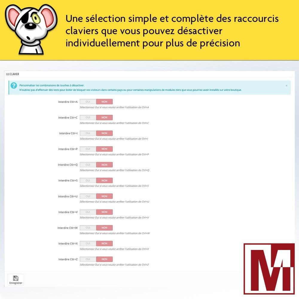 module - Sécurité & Accès - Interdire le clic droit et sécuriser les données - 3