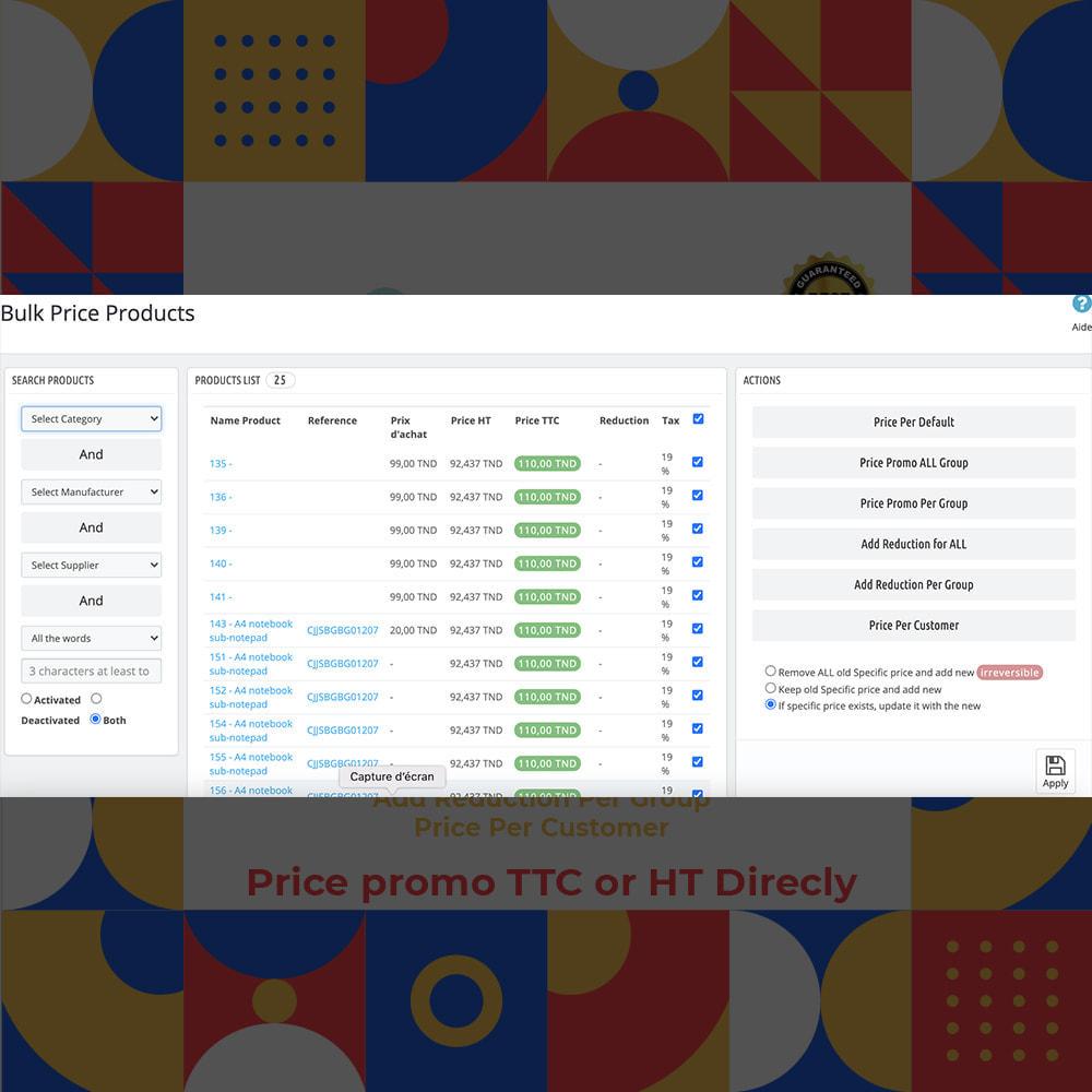 module - Promoties & Geschenken - Bulk Price Products - 2