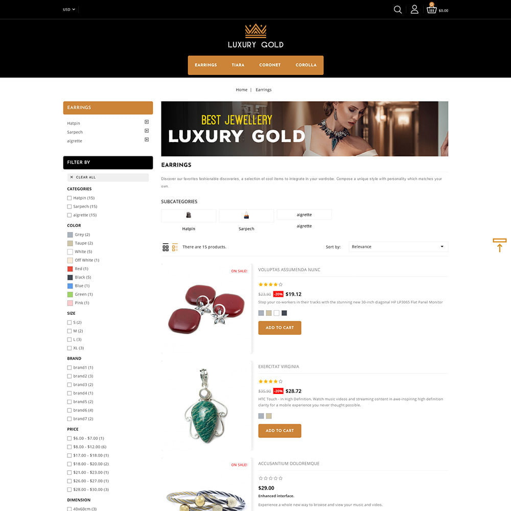 theme - Schmuck & Accesoires - Luxury gold - Jewellery Store - 4