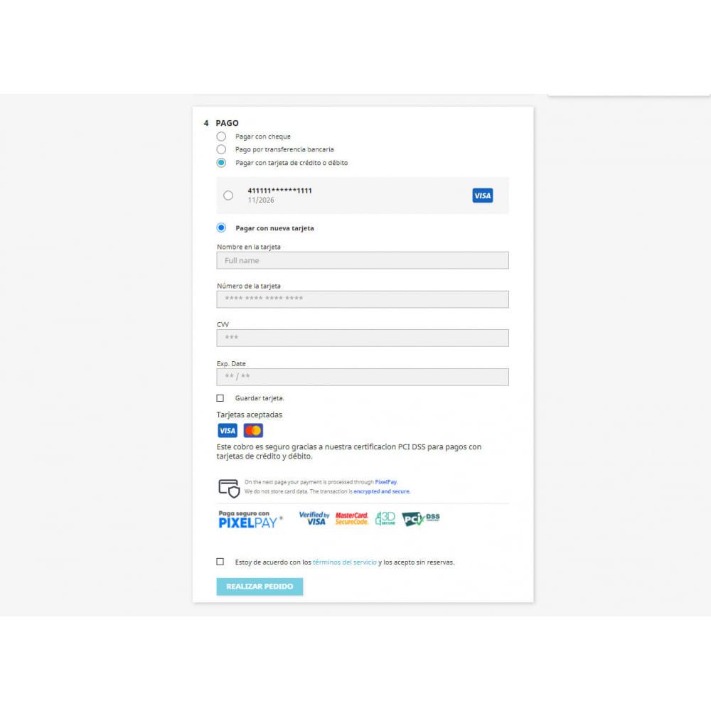 module - Pago con Tarjeta o Carteras digitales - PixelPay Payment - 3