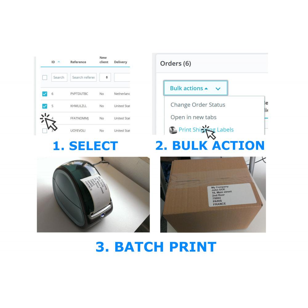 module - Подготовка и отправка - Address / Order Labels - Direct Label Print - 2