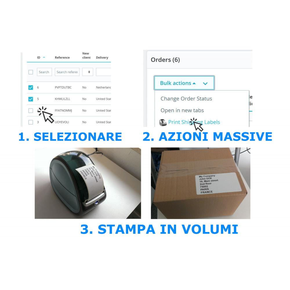 module - Preparazione & Spedizione - Etichette Ordine / Indirizzo - Direct Label Print - 2