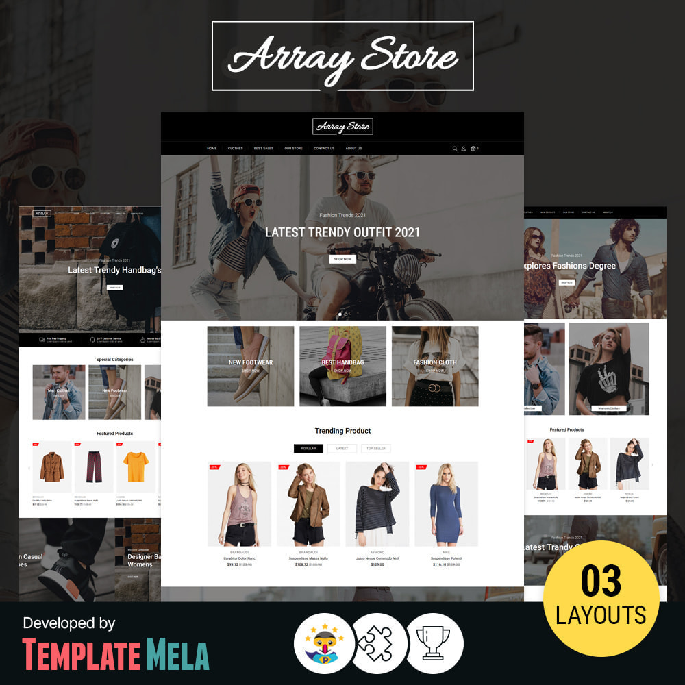 theme - Fashion & Shoes - Array Fashion Store - 1