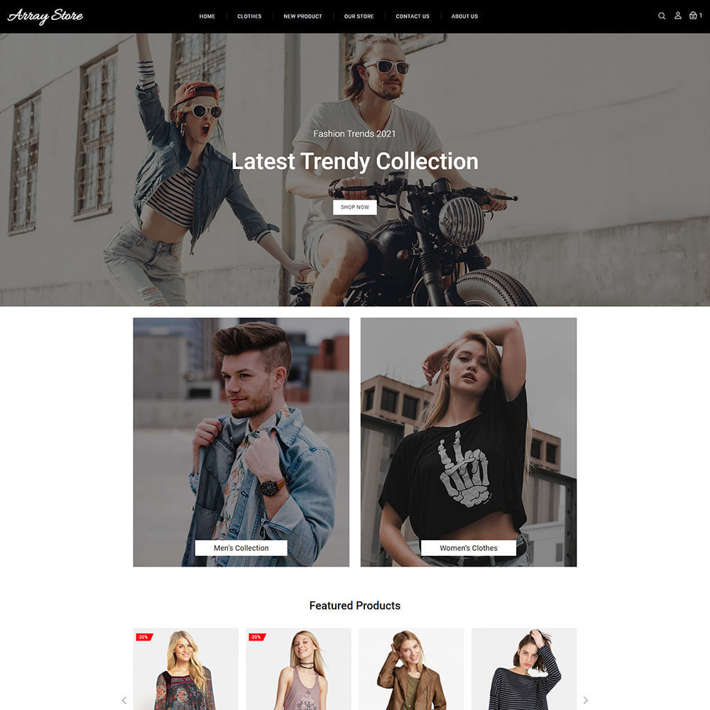 theme - Мода и обувь - Array Fashion Store - 3