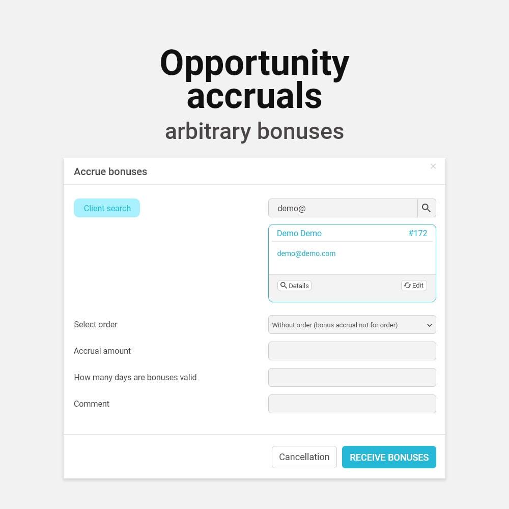 module - Empfehlungs- & Kundenbindungsprogramme - Bonus cashback sustem - 13