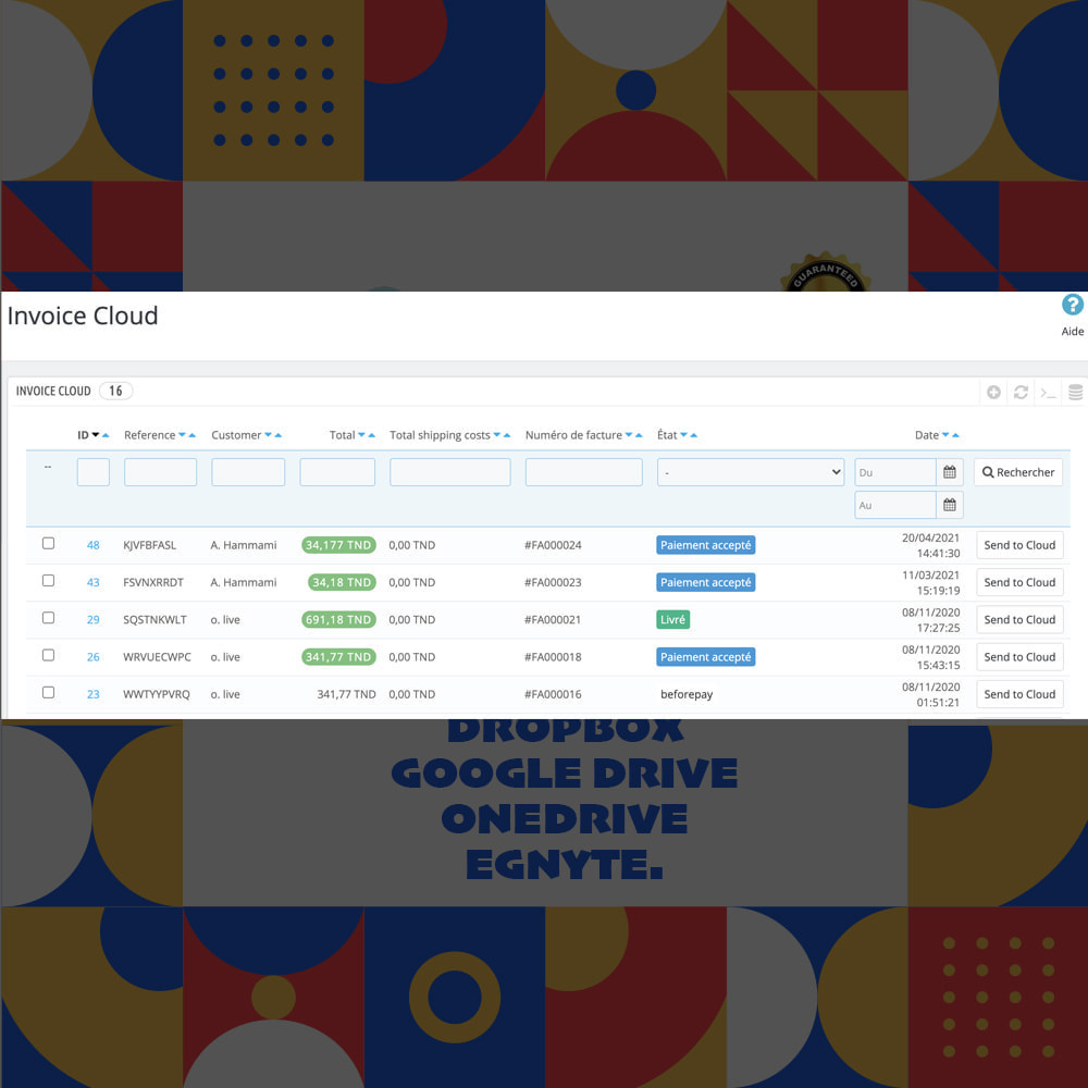 module - Accounting & Invoicing - Invoice Cloud Storage - 3
