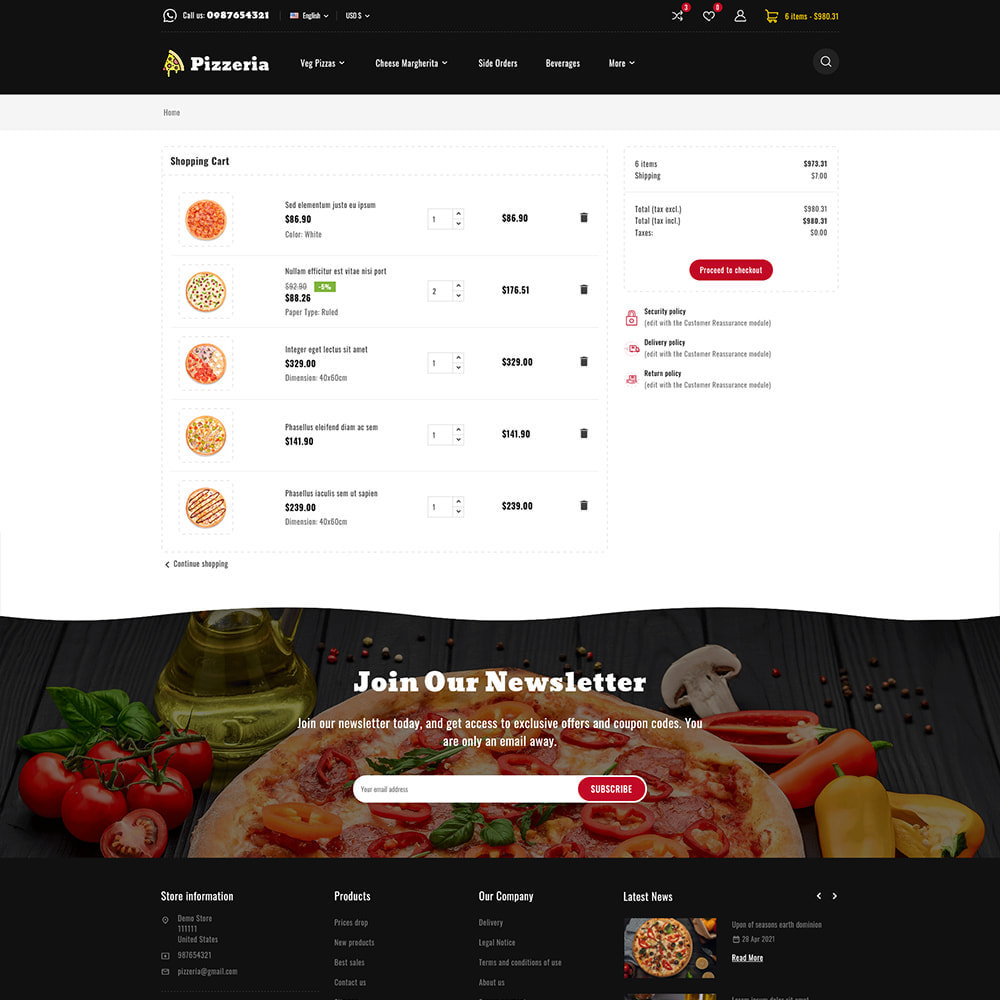 theme - Cibo & Ristorazione - Pizzeria - Pizza Fast Food Restaurant - 11