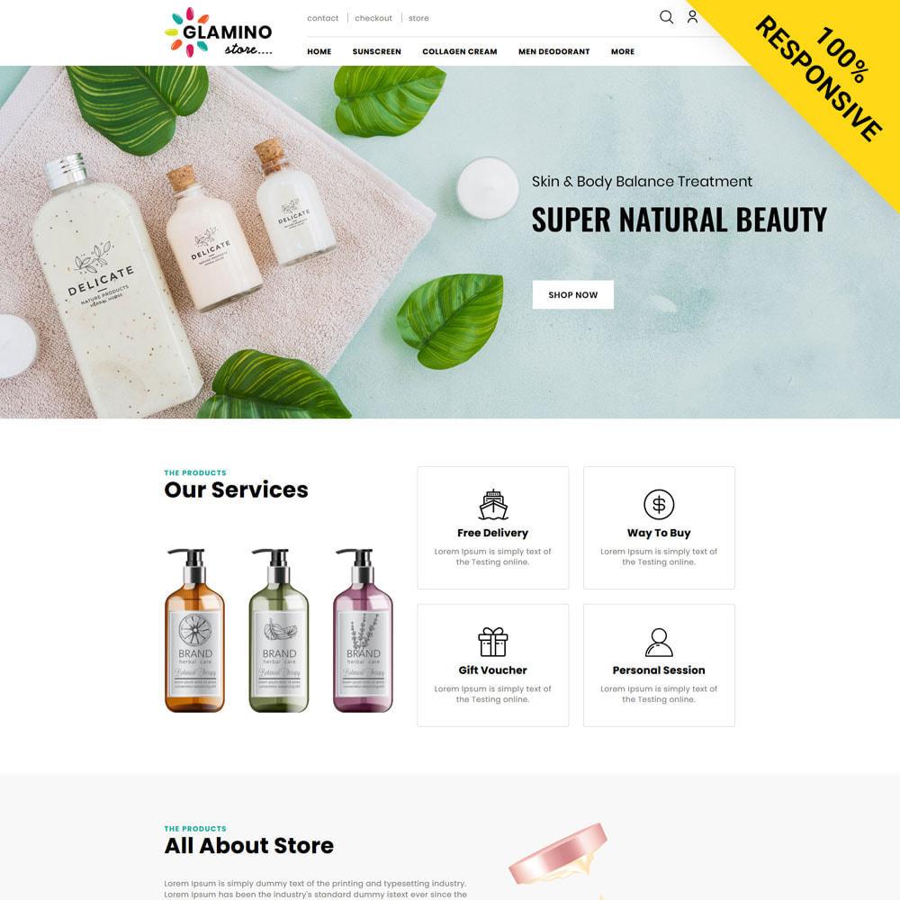 theme - Salute & Bellezza - Glamino - Cosmetic Store - 1
