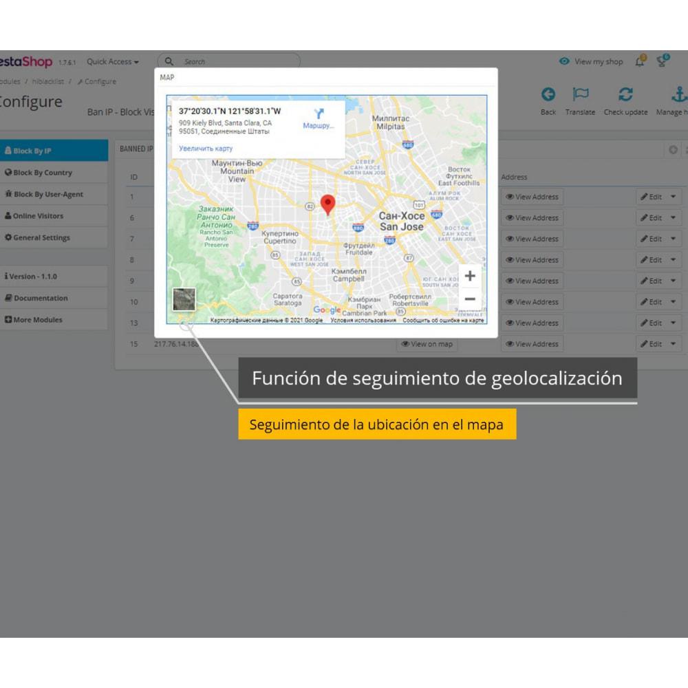 module - Seguridad y Accesos - Prohibir IP y ver Ubicación / Dirección - 2