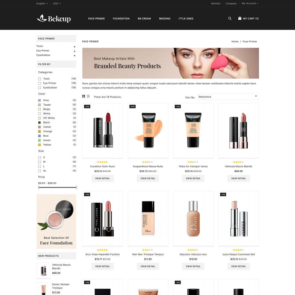 theme - Здоровье и красота - Bekeup Cosmetics & Beauty Store - 3
