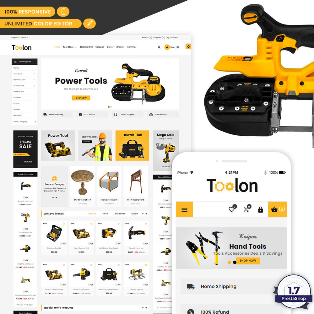 theme - Autos & Motorräder - Toolon Mega Tools Super Store - 1