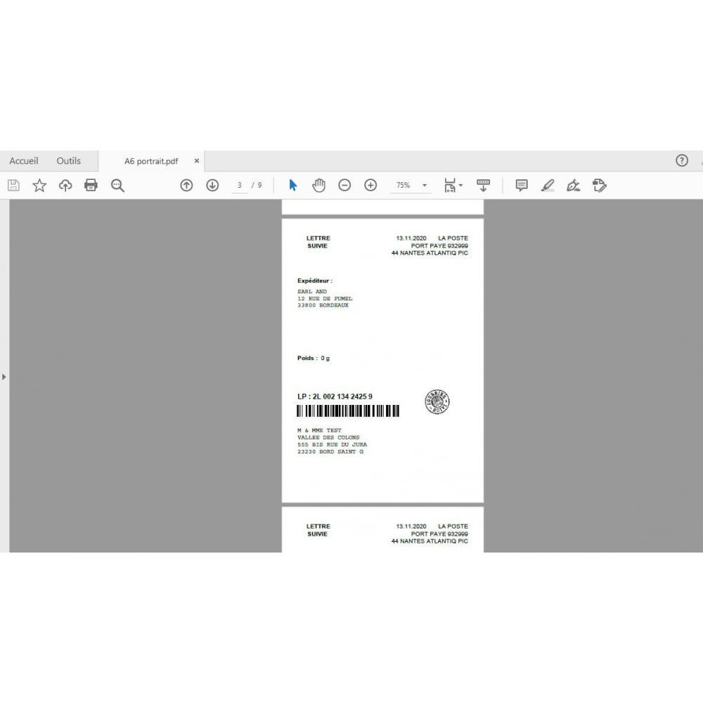 module - Бейджи и Логотипы - labeling port paye poste - 8