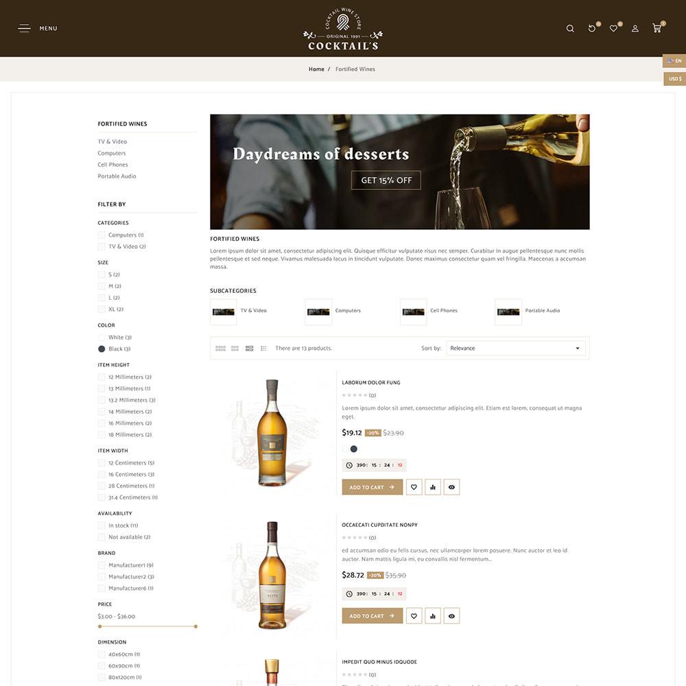 theme - Bebidas y Tabaco - Cocktail - Wine – Alcohol Cigarettes Drink Store - 6