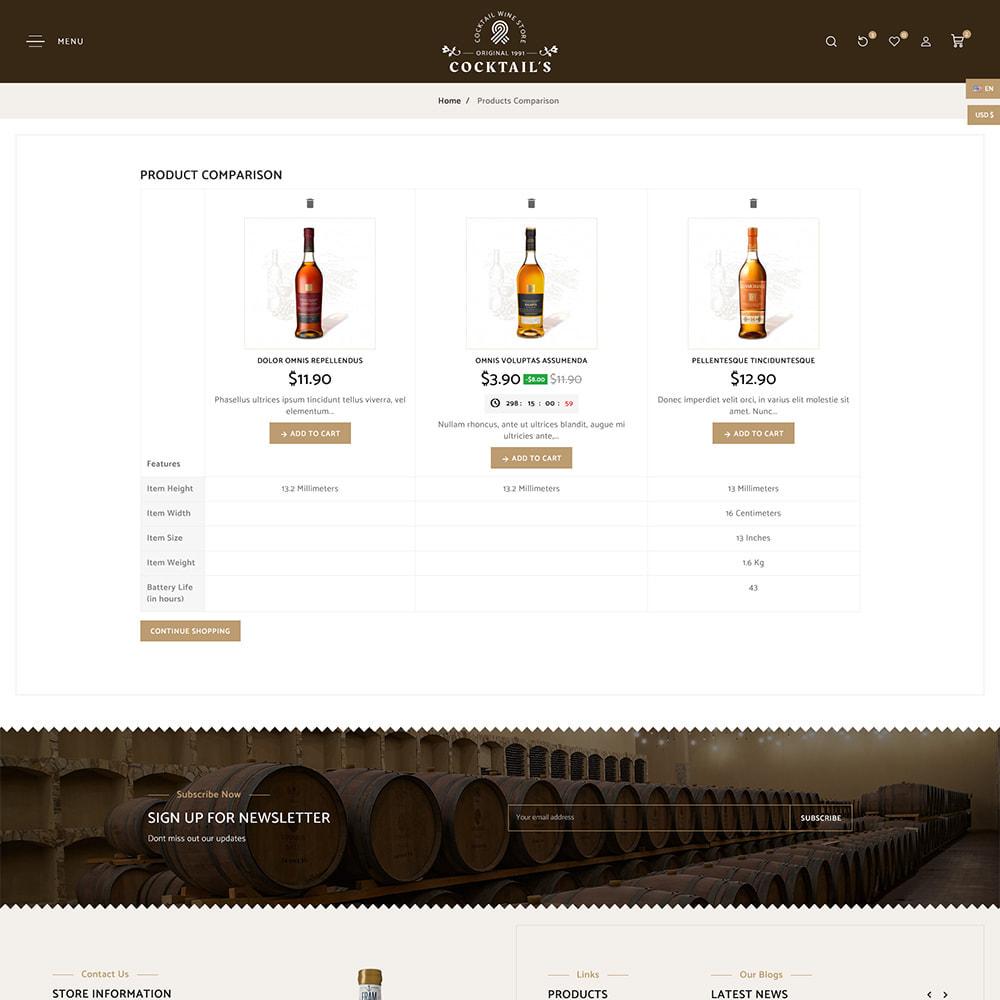 theme - Bebidas y Tabaco - Cocktail - Wine – Alcohol Cigarettes Drink Store - 9