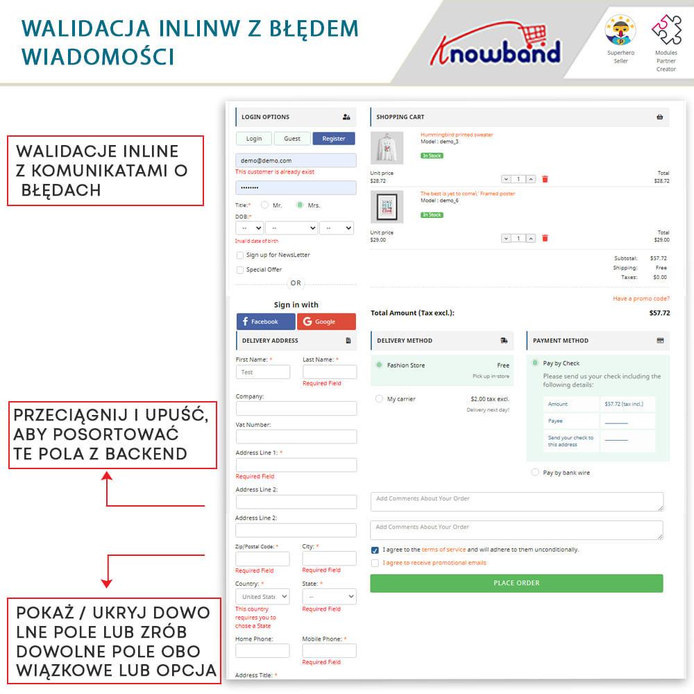 module - Szybki proces składania zamówienia - One Page Checkout, Social Login & Mailchimp - 1