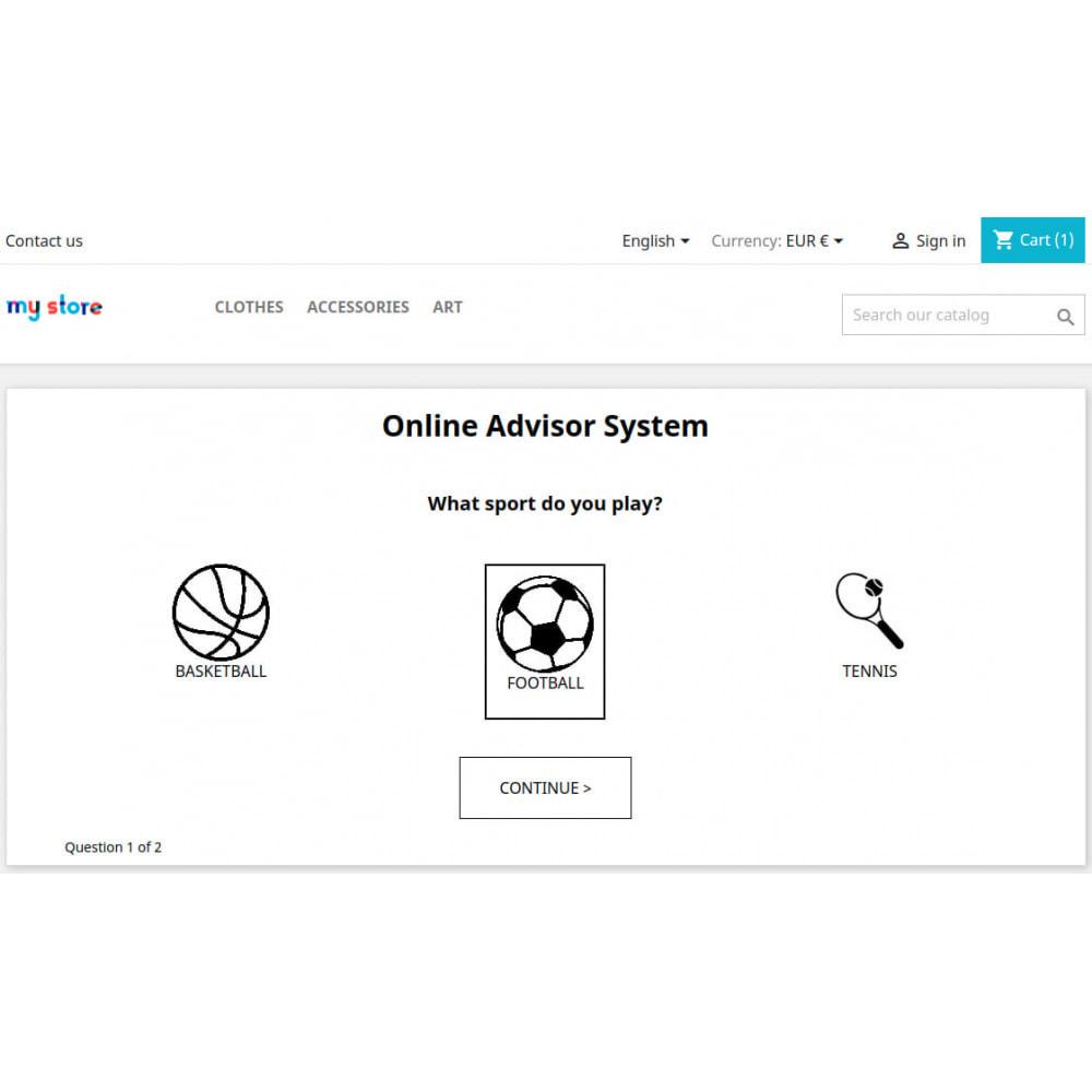 module - Vendas cruzadas & Pacotes de produtos - Products advisor - 13