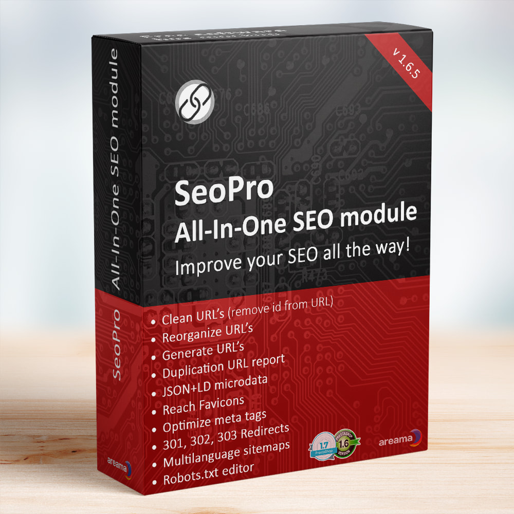 module - SEO (Referenciamento natural) - SEO Pro All-In-One. URL cleaner, redirects, sitemaps... - 1