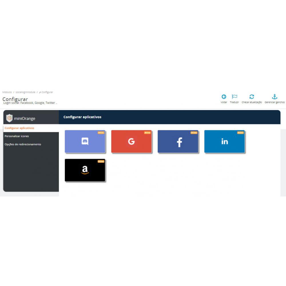 module - Módulos de Botões de Login & Connect - Login social: Google Apple +15apps Mailchimp & GDPR - 1
