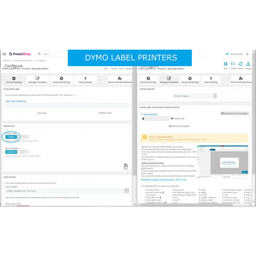module - Przygotowanie & Wysyłka - Product / Barcode Labels - Direct Label Print - 6