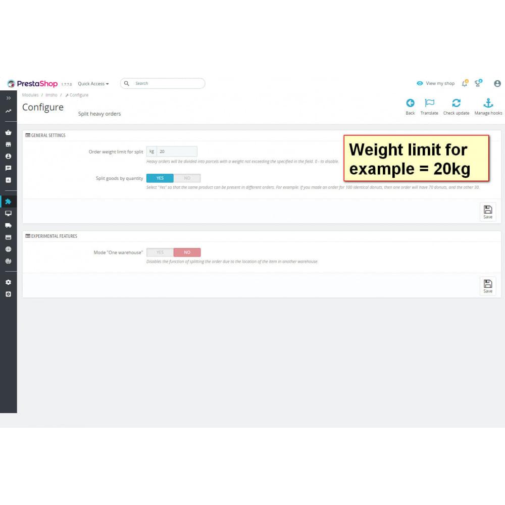 module - Registration & Ordering Process - Split heavy orders - 1