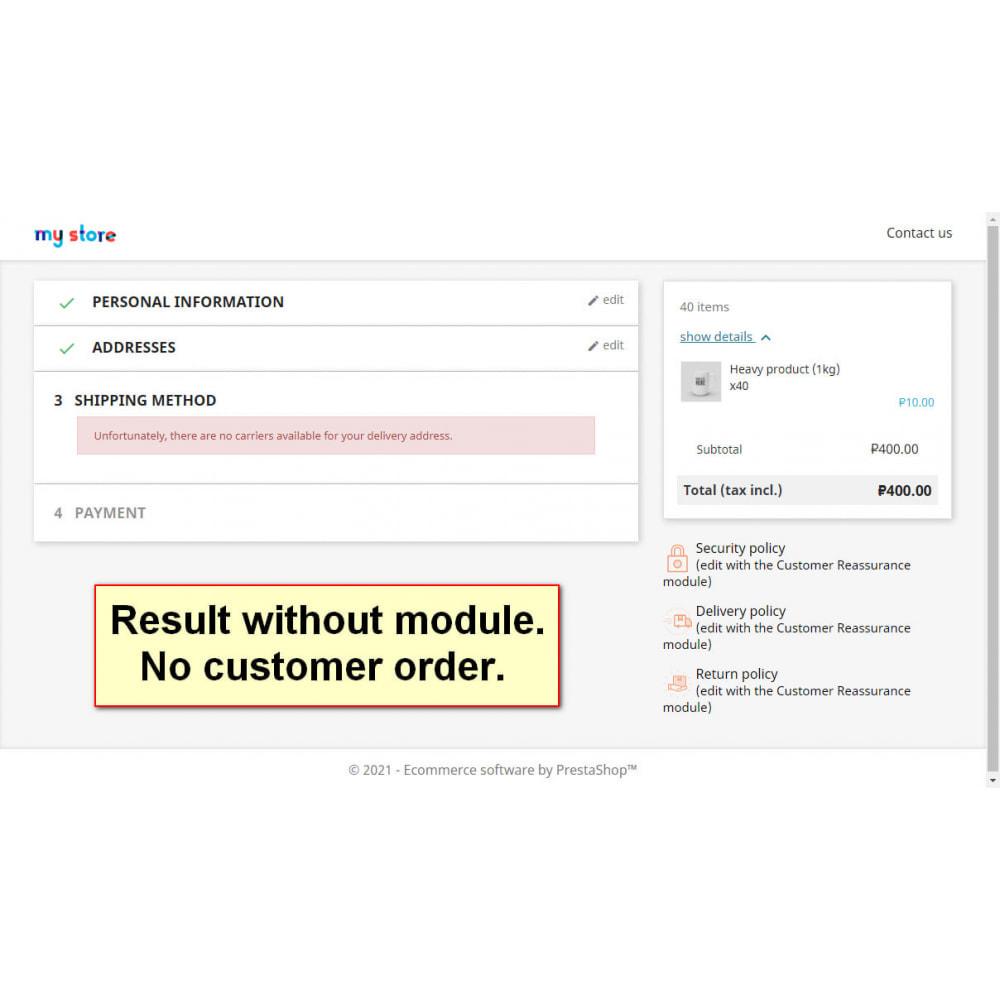 module - Registration & Ordering Process - Split heavy orders - 2