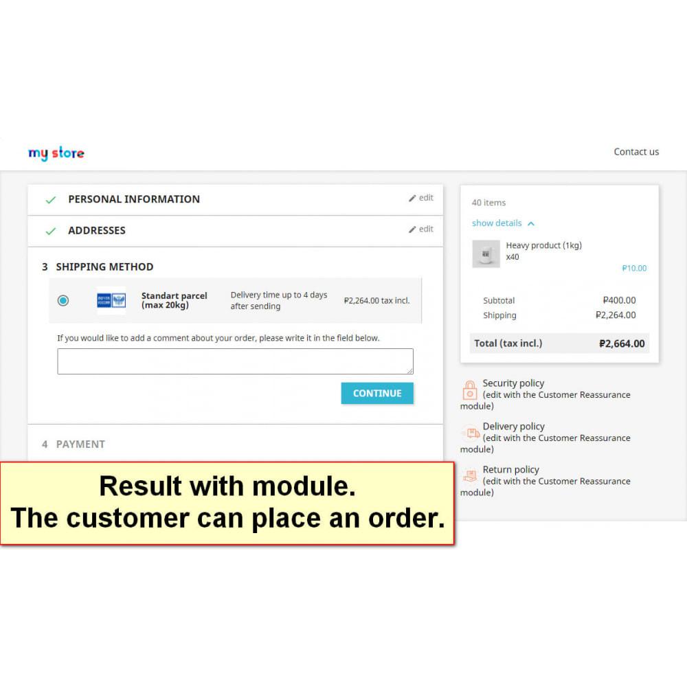 module - Registration & Ordering Process - Split heavy orders - 3