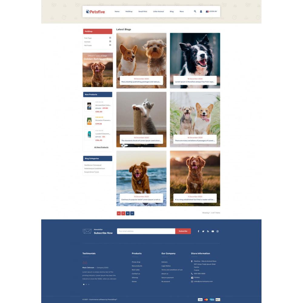 theme - Animals & Pets - Petsfive - Pet & Animal Store - 9