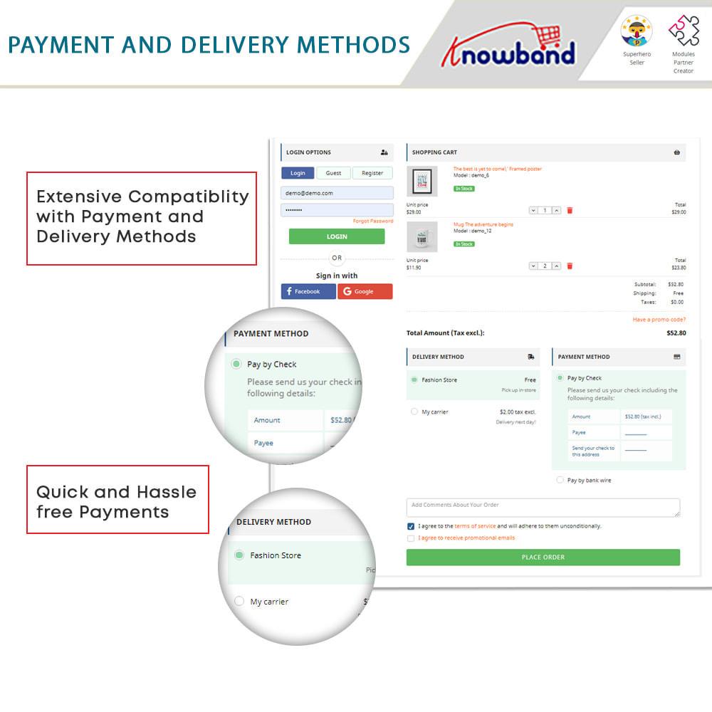 module - Bestelproces - One Page Checkout, Social Login & Mailchimp - 12