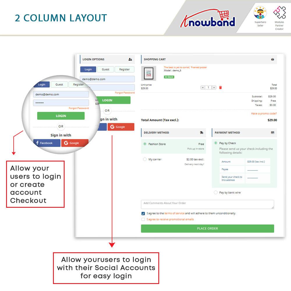 module - Bestelproces - One Page Checkout, Social Login & Mailchimp - 15
