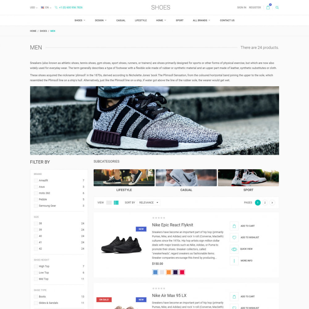 theme - Mode & Chaussures - World Footwear - Magasin de Chaussures - 5