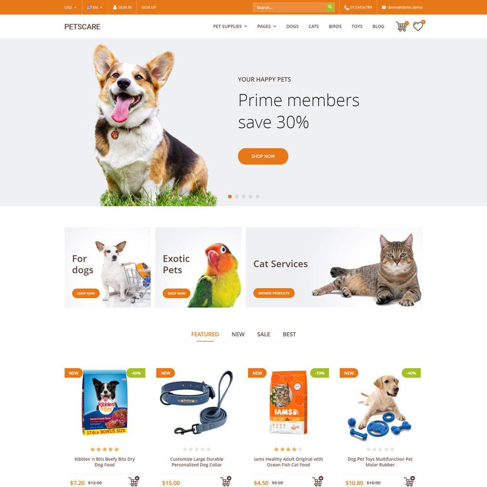 theme - Animals & Pets - PetsCare - Pets Shop - 1