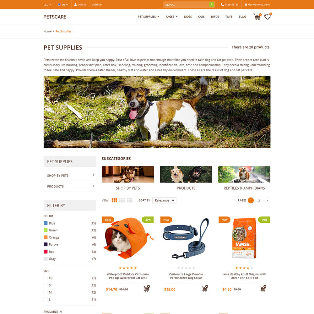theme - Animaux - PetsCare - Magasin d'animaux - 3