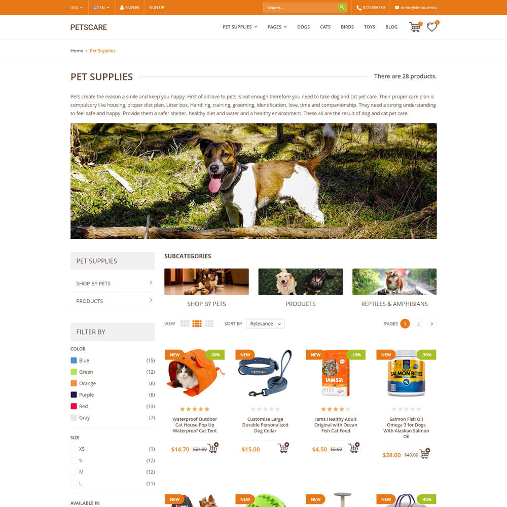 theme - Animaux - PetsCare - Magasin d'animaux - 4
