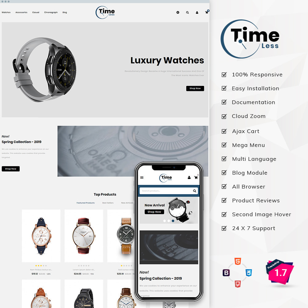 theme - Jewelry & Accessories - Timeless - Watch Store - 1