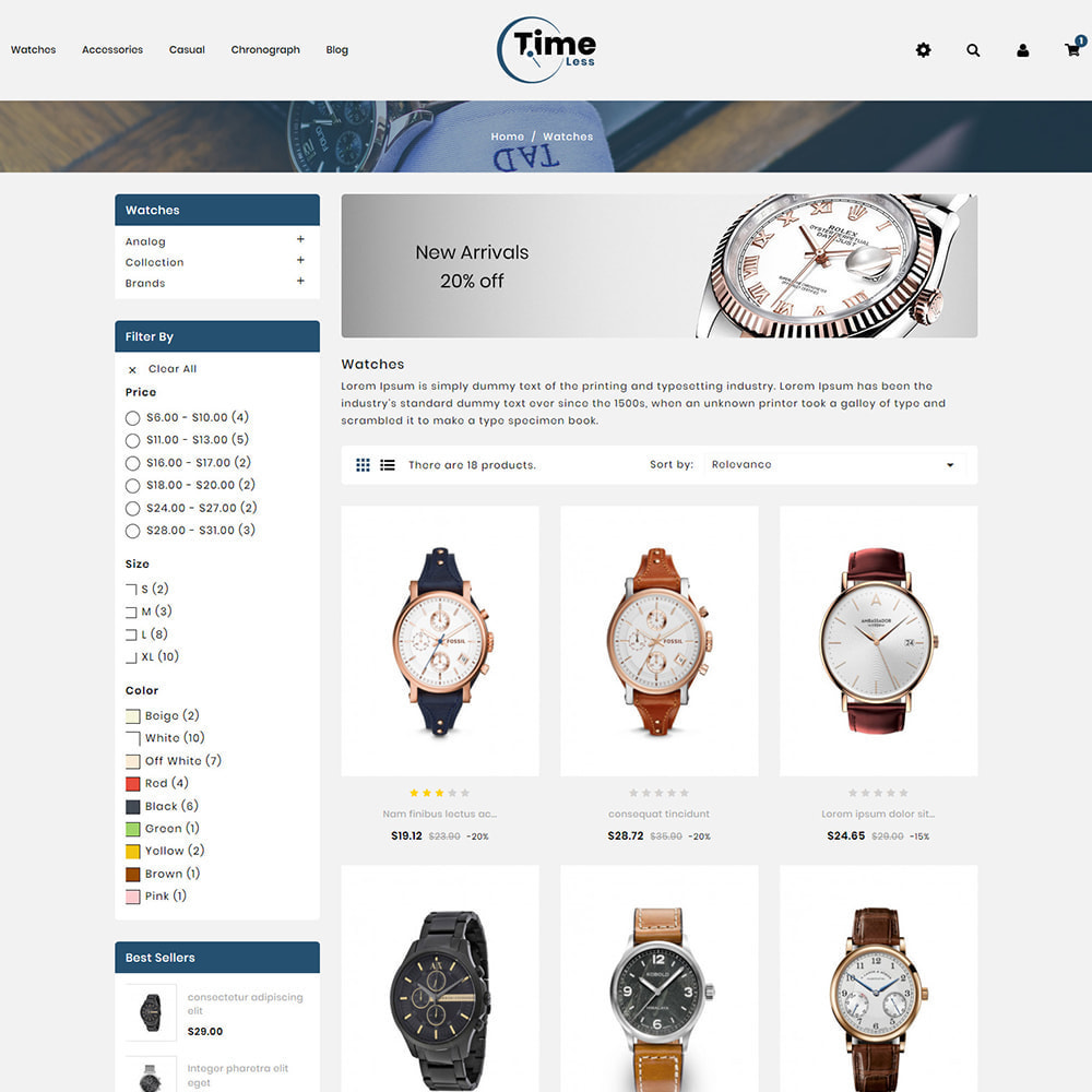 theme - Jewelry & Accessories - Timeless - Watch Store - 3