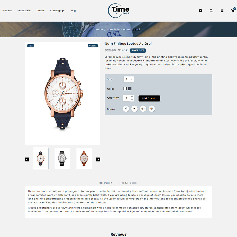 theme - Jewelry & Accessories - Timeless - Watch Store - 4