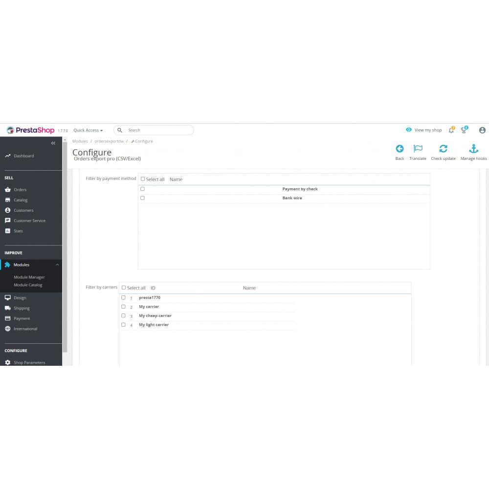 module - Importación y Exportación de datos - Orders Export Pro (Excel,CSV) - 3