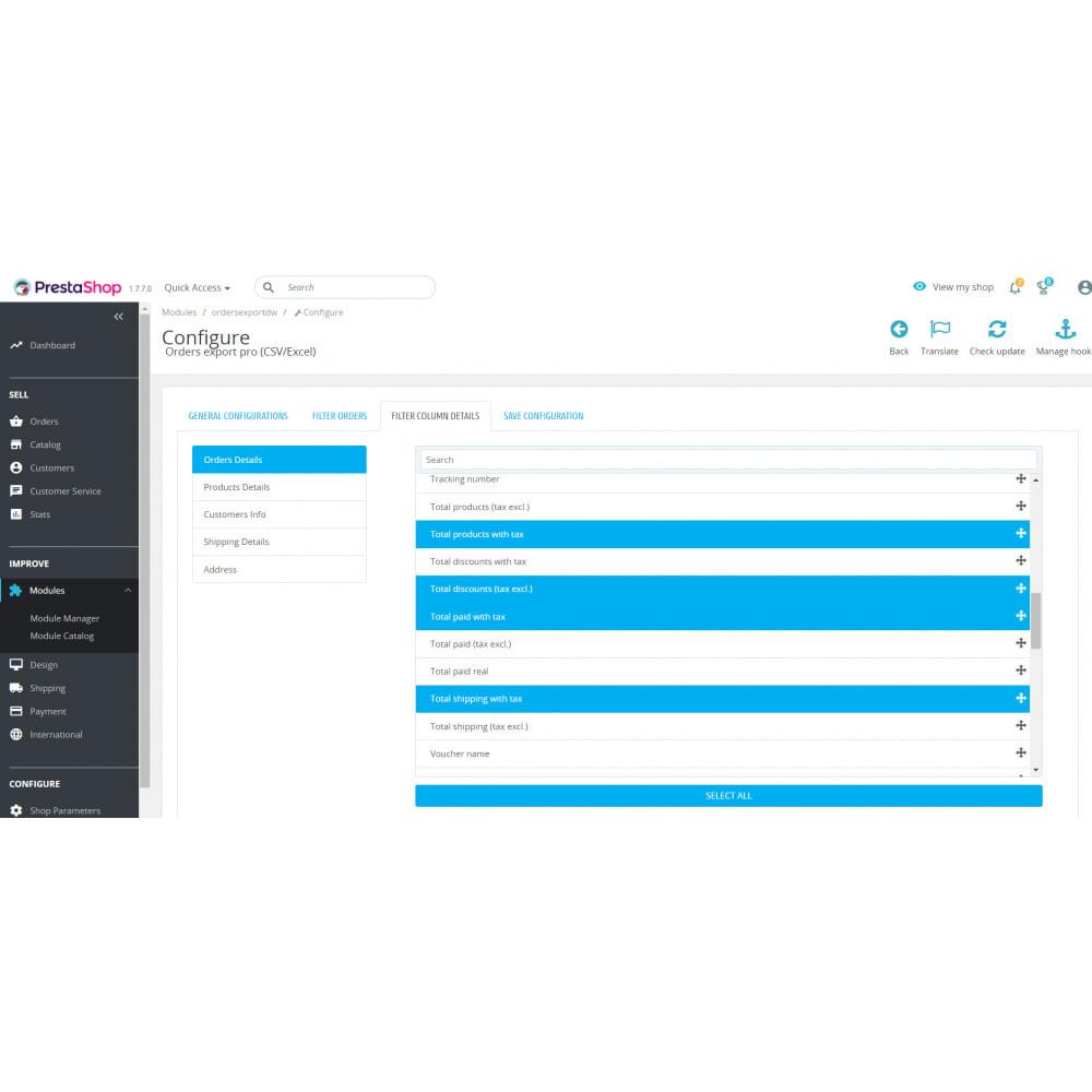 module - Importación y Exportación de datos - Orders Export Pro (Excel,CSV) - 5