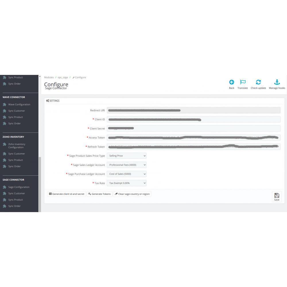 module - Third-party Data Integration (CRM, ERP...) - Sage Connector - 1