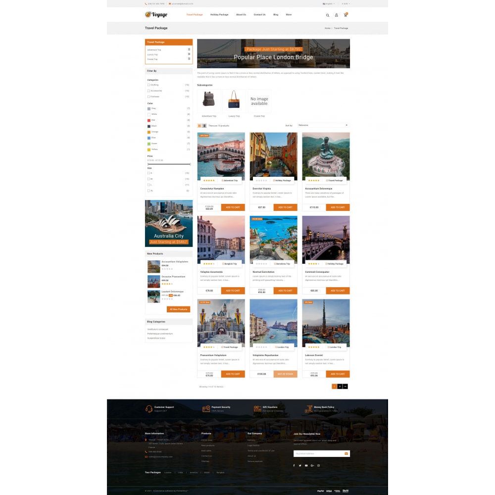 theme - Sports, Activities & Travel - Voyage - Travels Store - 3