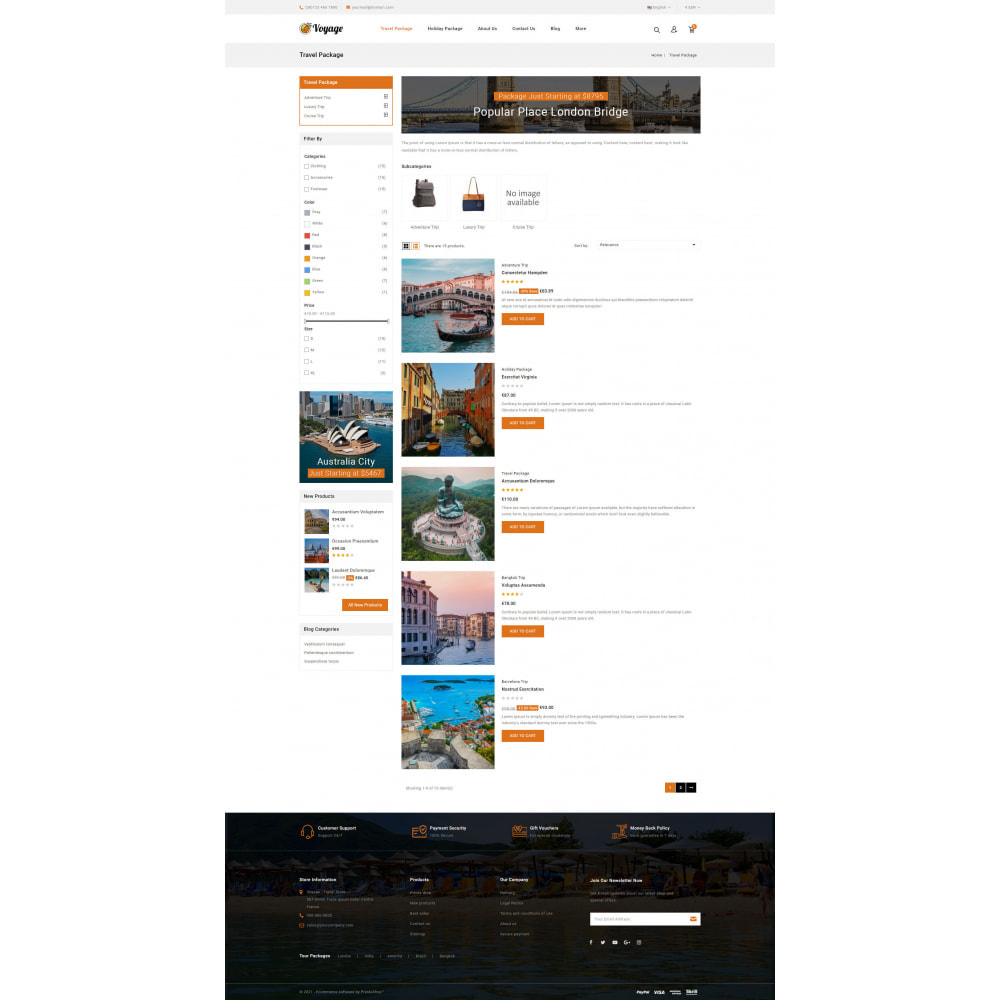 theme - Sports, Activities & Travel - Voyage - Travels Store - 4