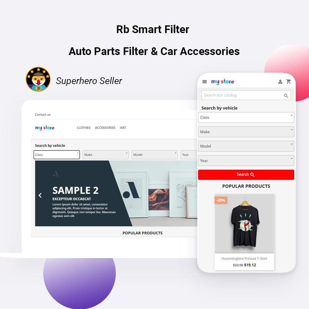 module - Zoeken & Filteren - Rb Smart Filter  -  Auto Parts Filter & Car Accessories - 1