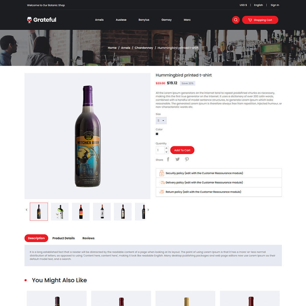 theme - Drink & Tobacco - Grateful Wine - Drink  Alcohol Coffee Store - 5