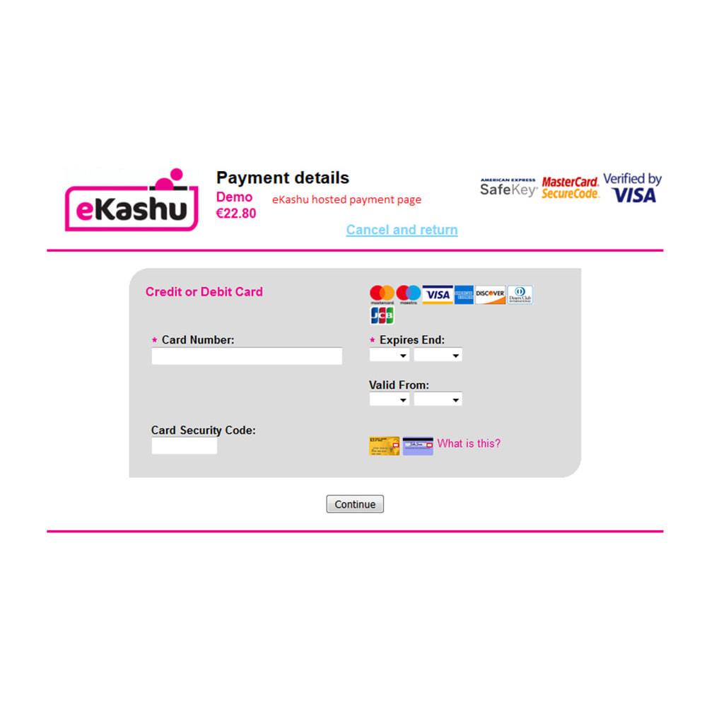 module - Payment by Card or Wallet - eKashu (NMI) Hosted Payment - 8