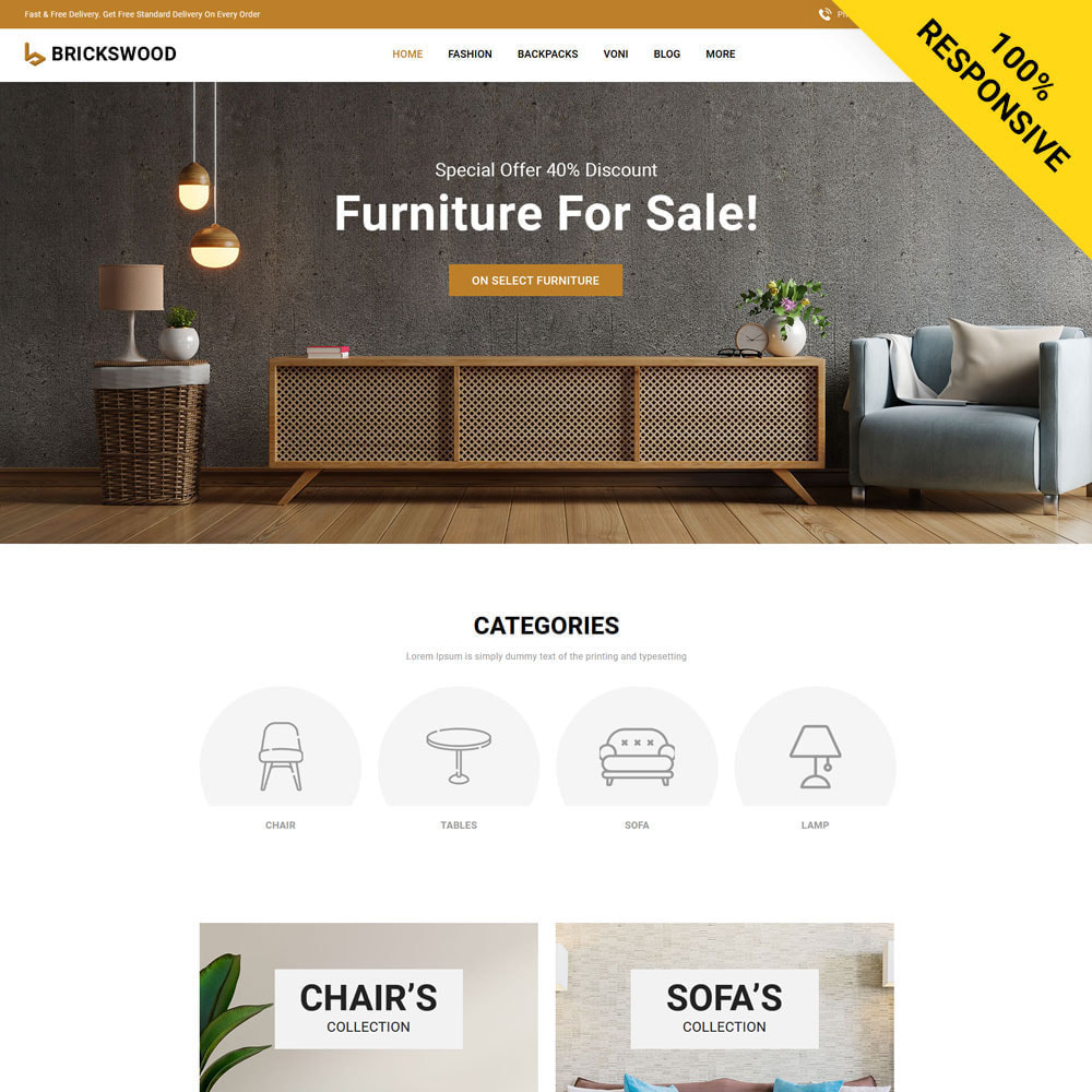 theme - Gifts, Flowers & Celebrations - Brickswood - Firniture Store - 1